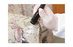 トコジラミの生息目視調査、バキューム処理